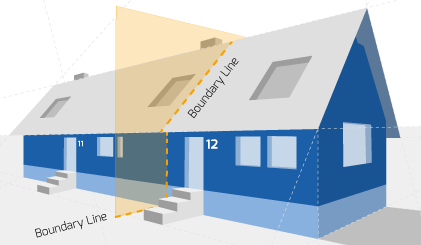 Party Wall illustration for Caldicot Surveyors